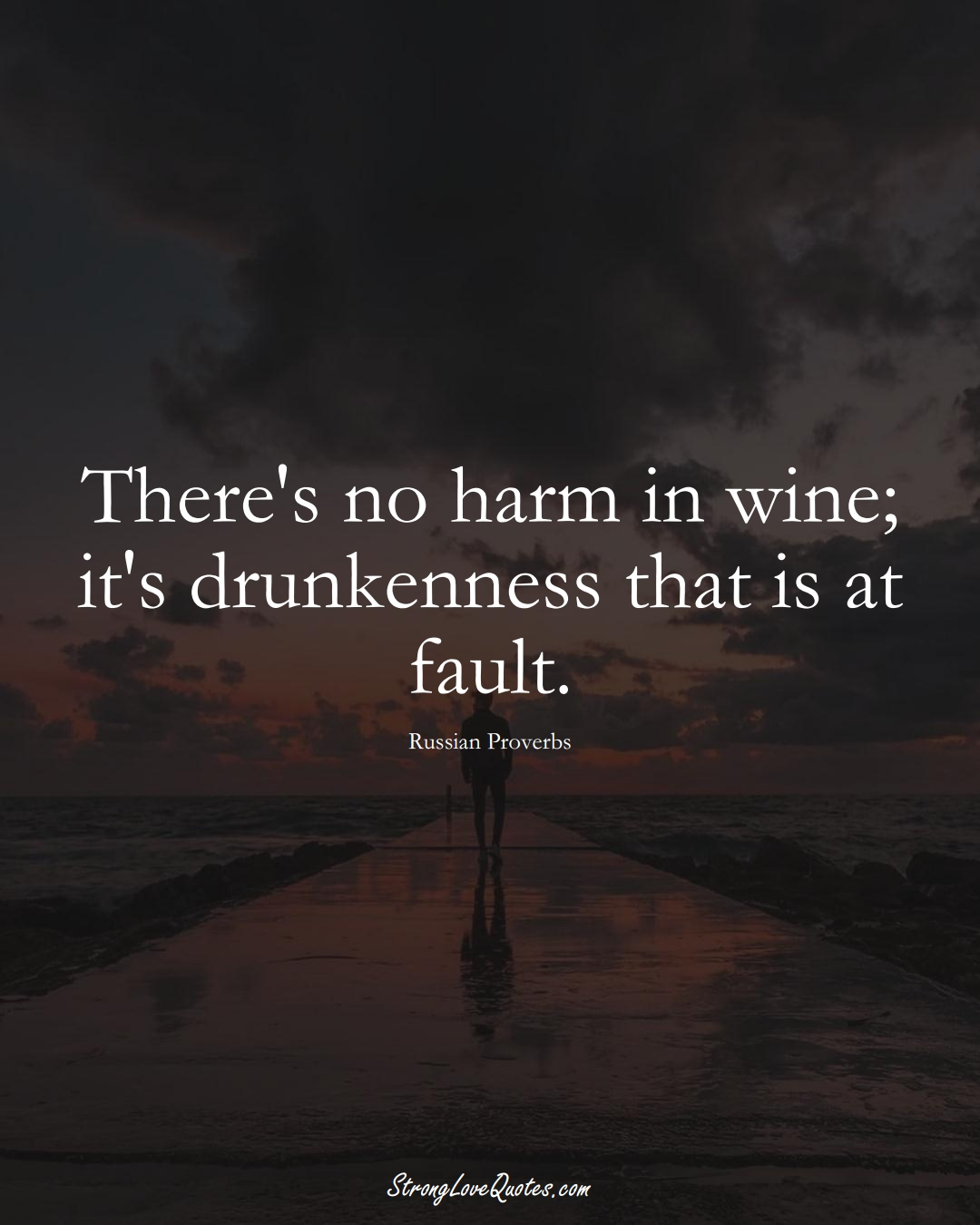 There's no harm in wine; it's drunkenness that is at fault. (Russian Sayings);  #AsianSayings