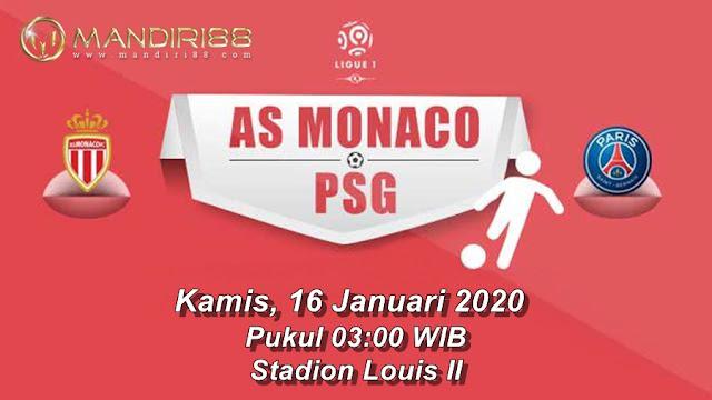 Prediksi AS Monaco Vs Paris Saint Germain, Kamis 16 Januari 2020 Pukul 03.00 WIB