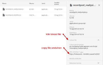 Copy file Unduhan di firebase