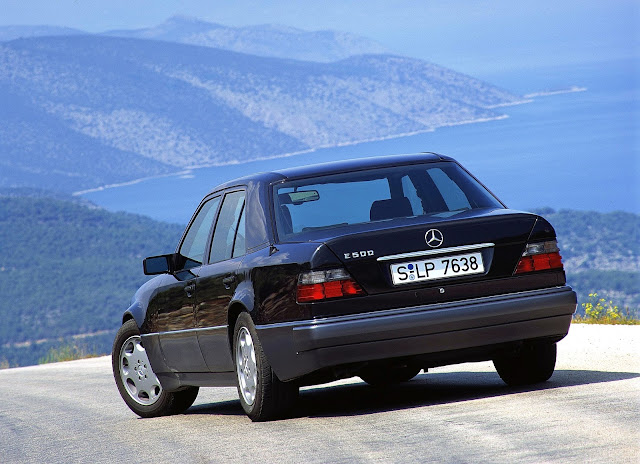 1993 - Mercedes-Benz 500 E, the high-performance 124 model series saloon