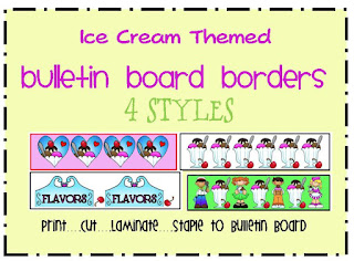 ice cream bulletin board borders