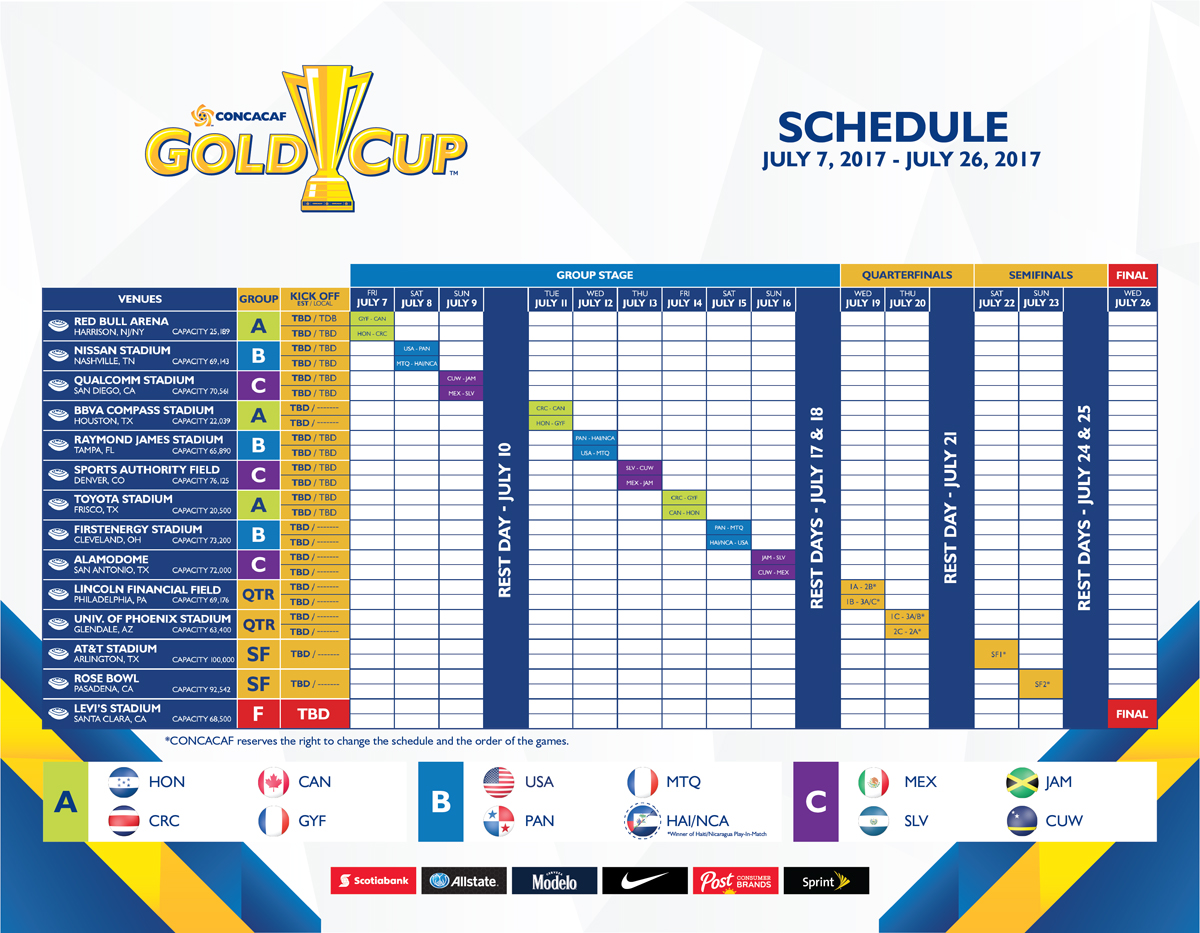 programma gold cup 2017