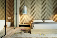 Chevron wall panel for bedroom accent wall idea