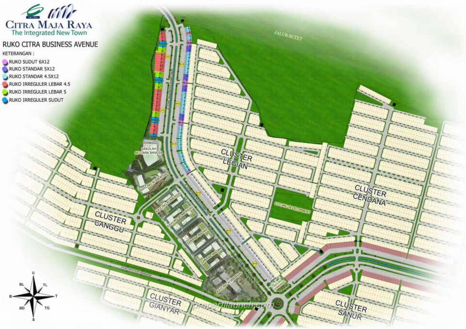 Siteplan Ruko CitraBusinessAvenue Maja Raya