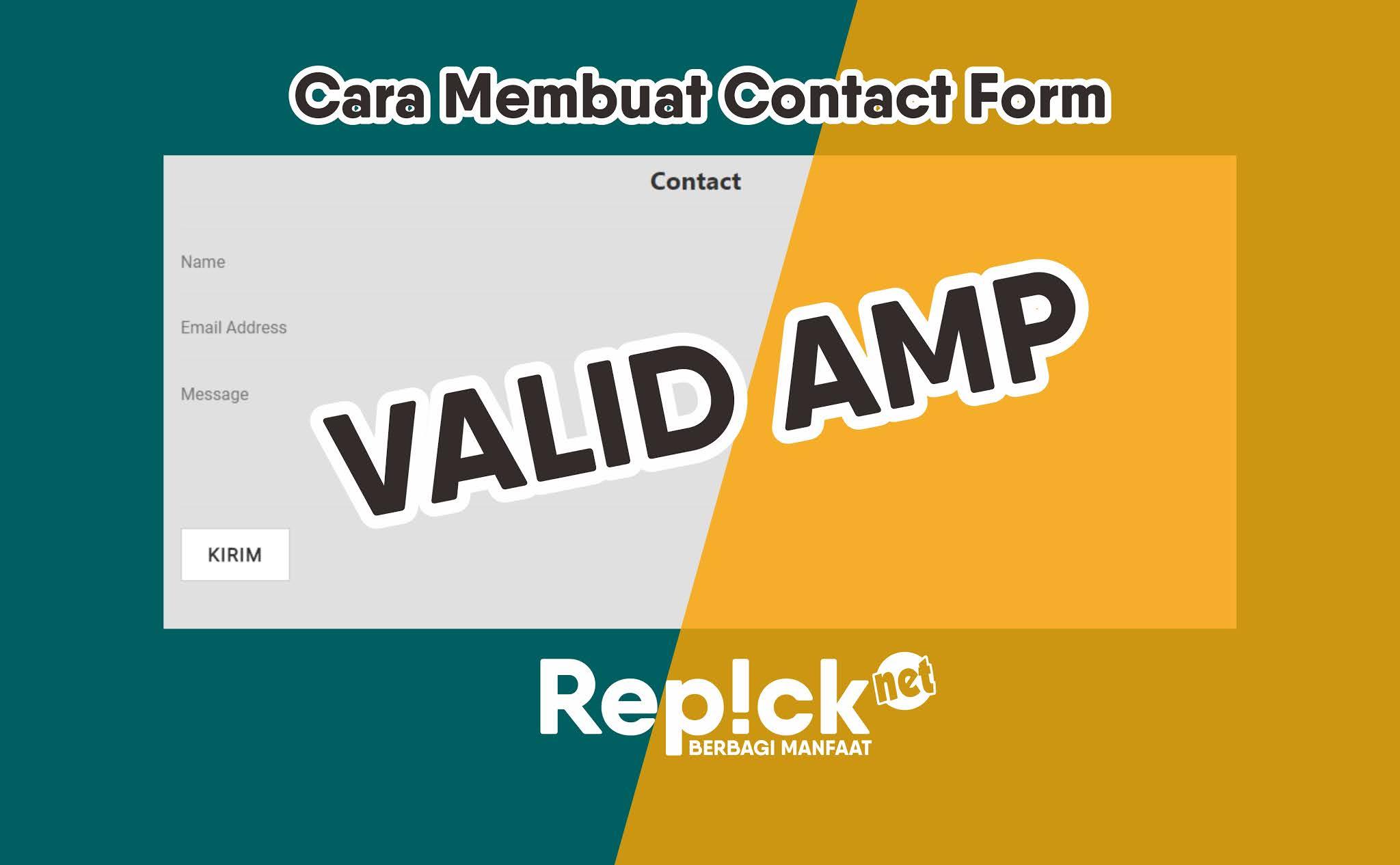 Cara Membuat Halaman Contact Form Valid AMP