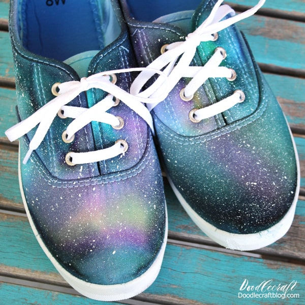 Tie dyed galaxy canvas or tennis shoes diy