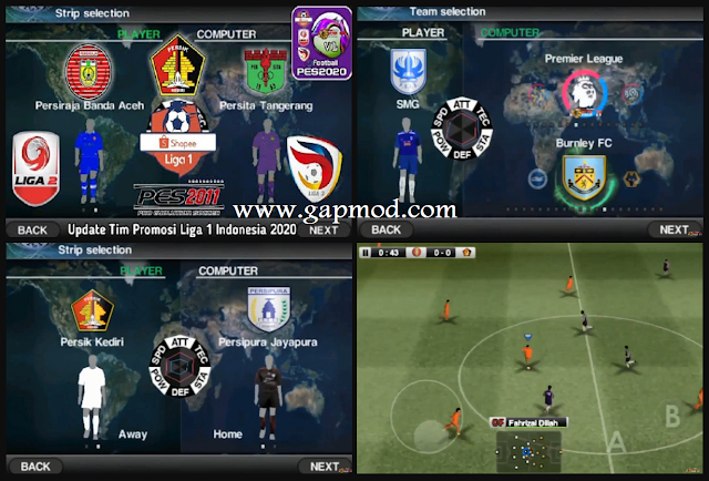 Download PES 2011 Mod 2020 APK Update Shopee League 1 Promotion Team
