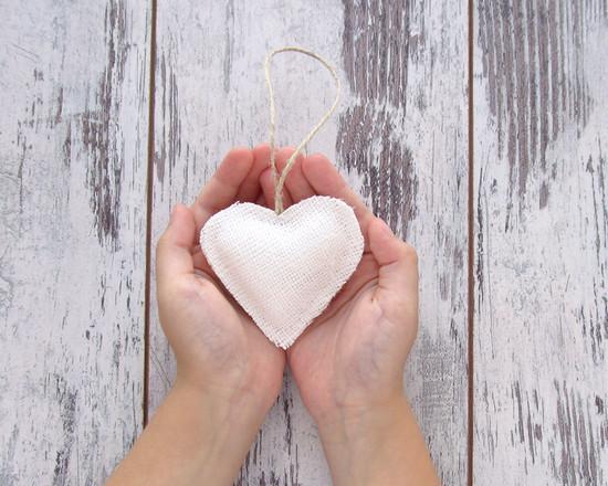 белые сердца, декор, hearts