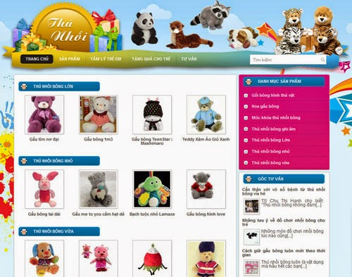 thiết kế website bán hàng gấu bông giá rẻ