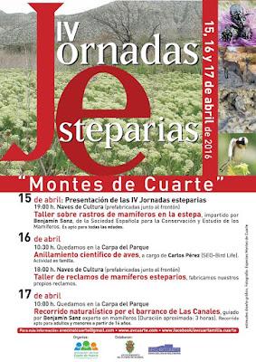 Jornadas esteparias Montes de Cuarte 2016 asociación vecinal Cuarta Milla