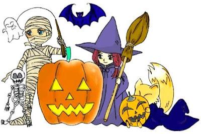 Dibujo por el Día de la brujas a colores (Halloween)