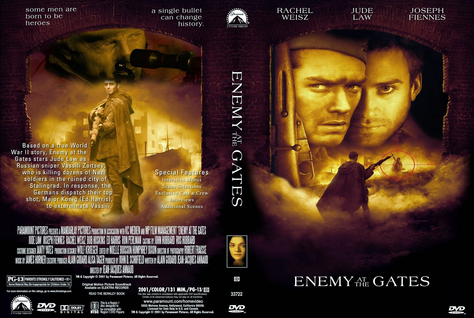 Enemy at the Gates (2001) DVDRip ταινιες online seires oipeirates greek subs