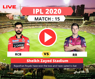 IPL 2020: Royal Challengers Bangalore take on the Rajasthan Royals, Rajasthan is batting first, Match -15