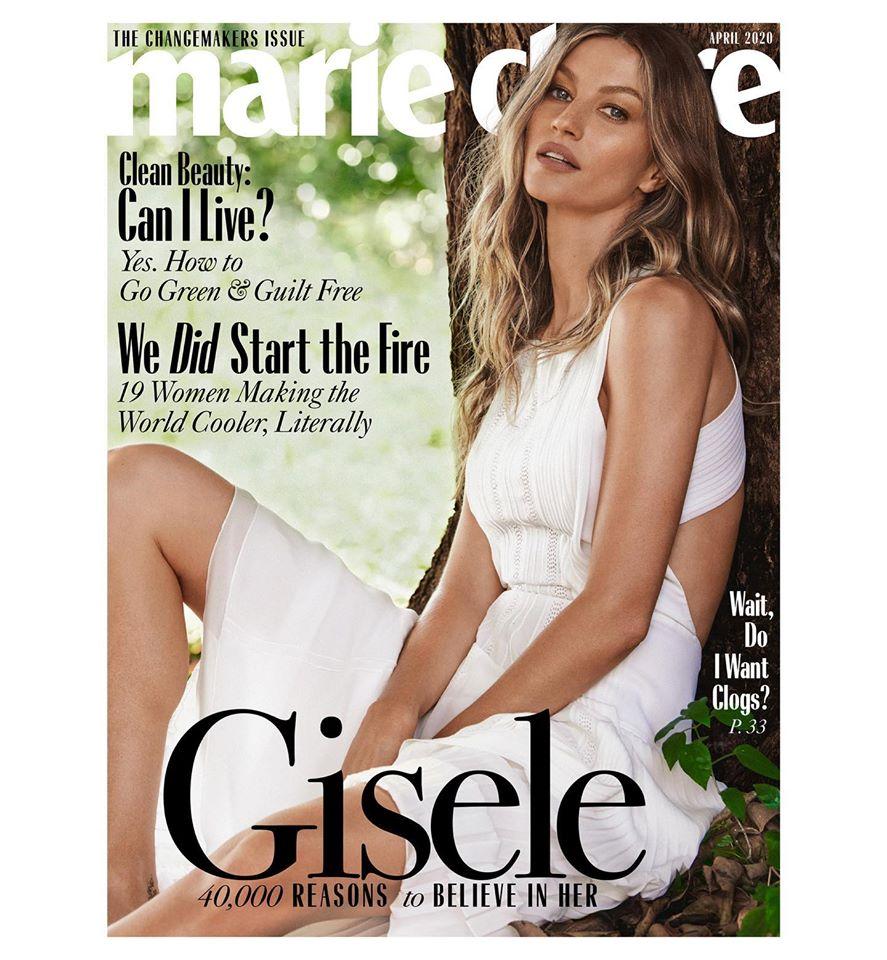 Gisele Bundchen poses for Marie Claire US April 2020