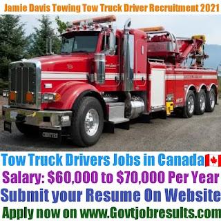 Jamie Davis Towing Tow Truck Driver Recruitment 2021-22