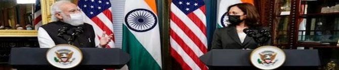 Kamala Harris Talks of Strengthening & Defending Democracy During Meeting With PM Modi