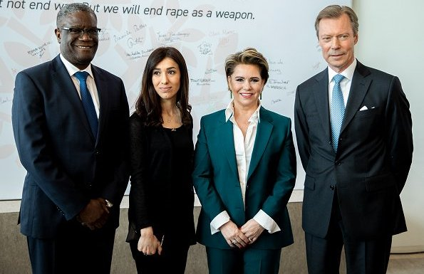 Prince Felix, Princess Claire and Archduchess Marie-Astrid Dr. Denis Mukwege and Nadia Murad
