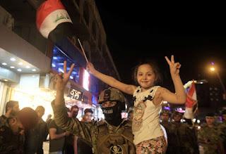 صور بغداد تحتفل بتحرير شقيقتها الموصل الحدباء
