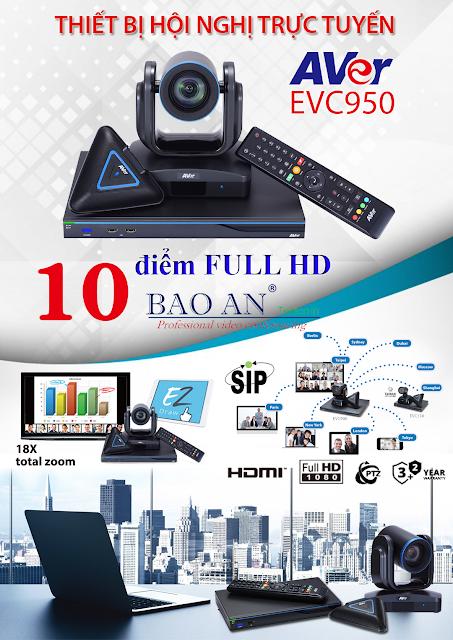 Thiết bị hội nghị trực tuyến đa điểm AVer EVC950