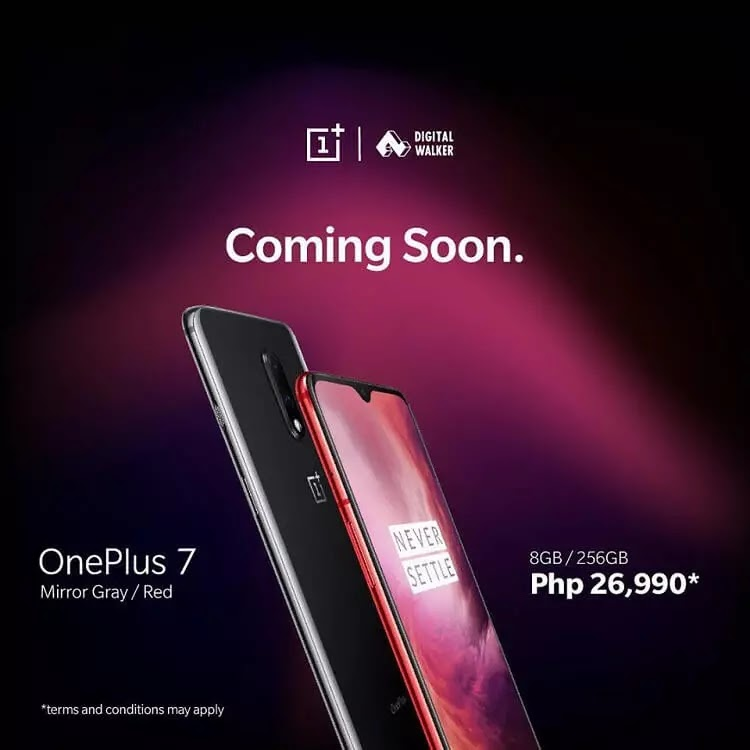 Digital Walker Brings OnePlus 7 to PH, Priced