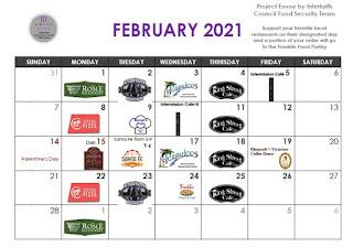 Project Envoy calendar for February 2021