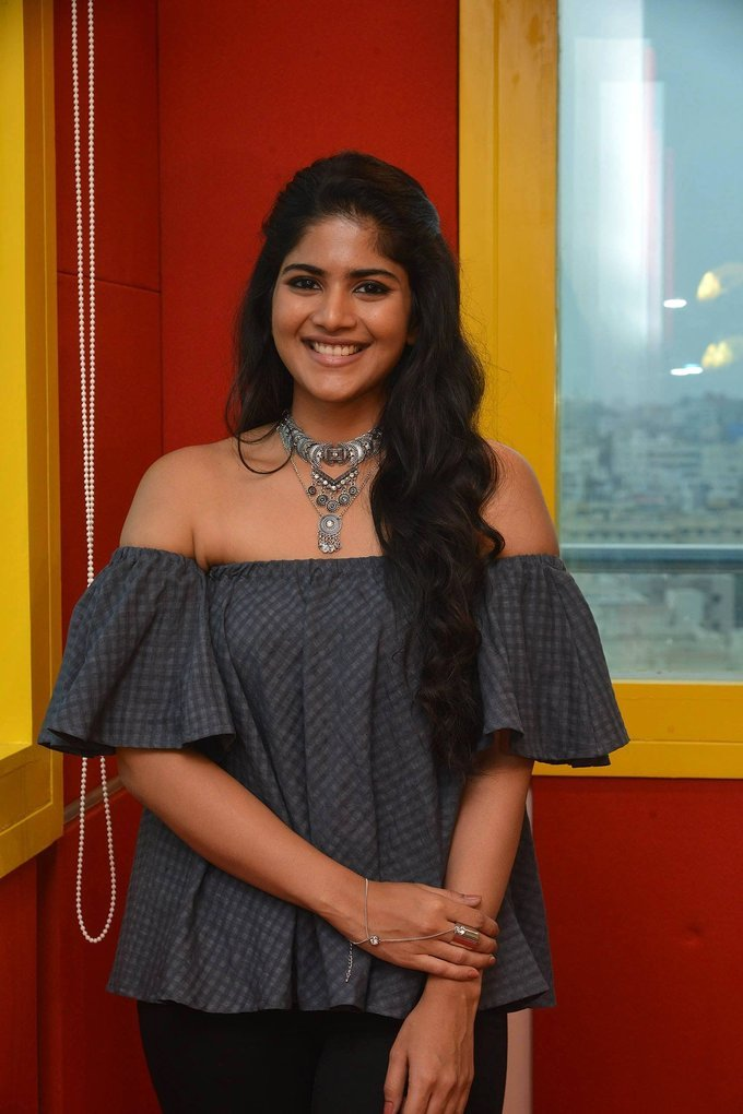 Actress Megha Akash at Radio Mirchi for LIE Movie Promotions