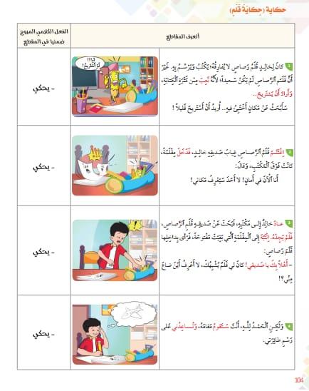 حكاية قلم  مرجع في رحاب اللغة العربية  المستوى الثاني