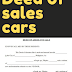 Deed of sales cars