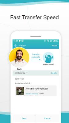 تطبيق ذكي للهاتف الذكي لإرسال واستقبال الملفات