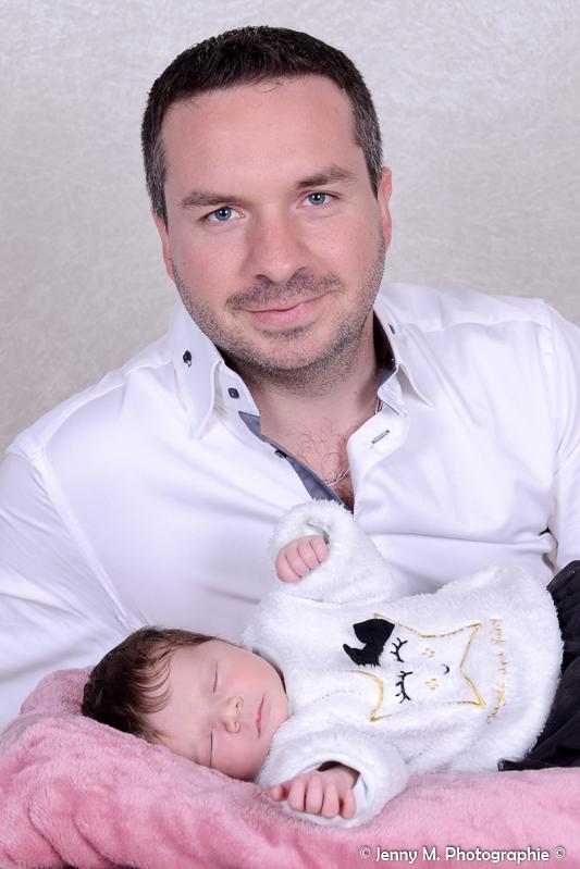 portrait papa avec bébé