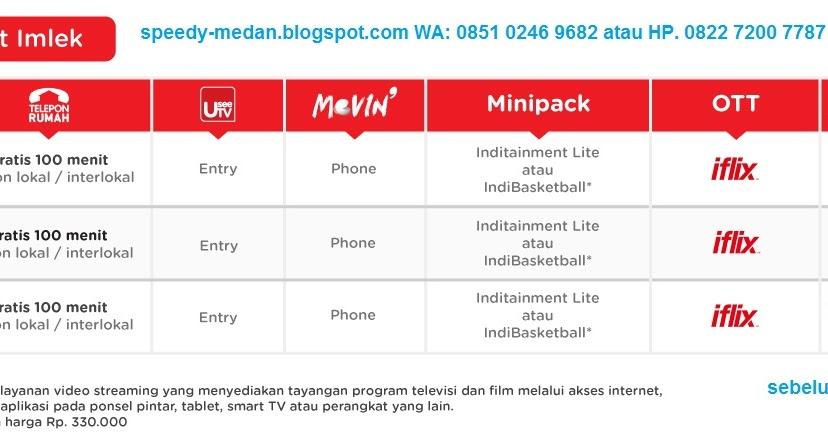 IndiHome Fiber Medan Paket Promo IMLEK 2018 Buruan daftar