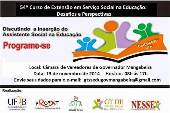 CONVITE - 54º Curso de Extensão Social na Educação