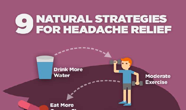9 Natural Strategies for Headache Relief #infographic
