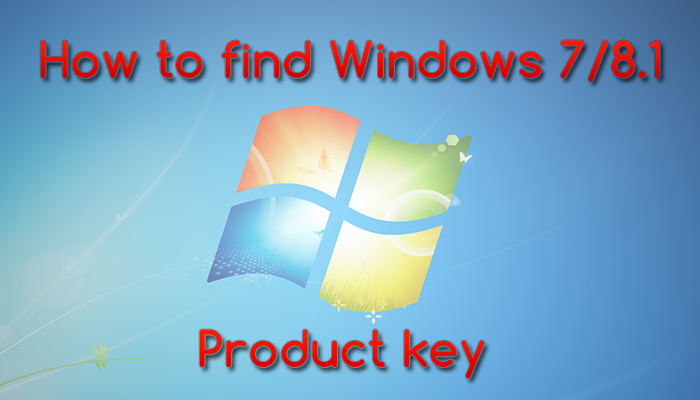Windows 7 product key finder