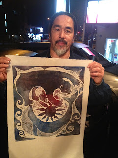 Woodblock print for donation