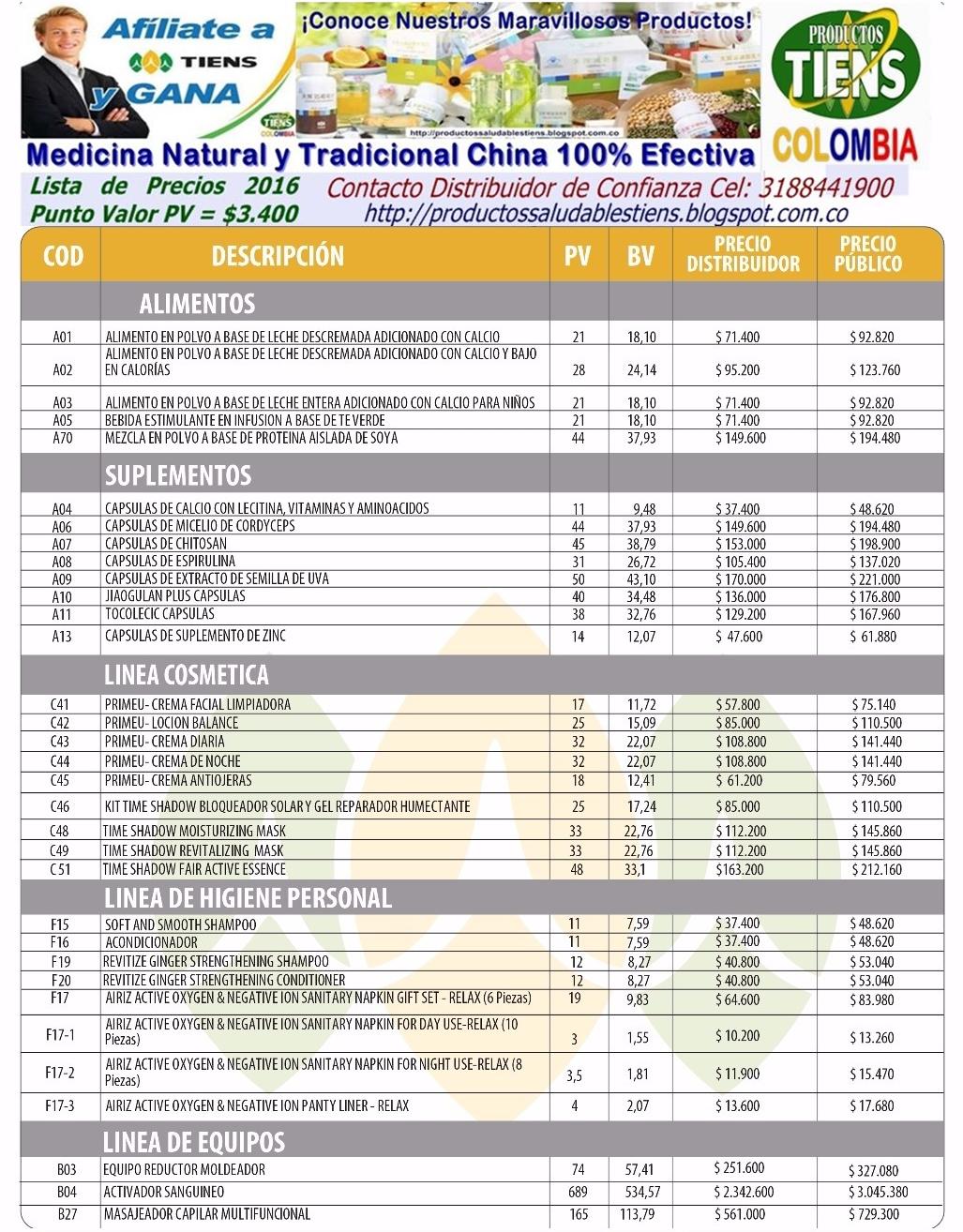 Productos tiens catalogo de productos tiens for Modelo de catalogo de productos