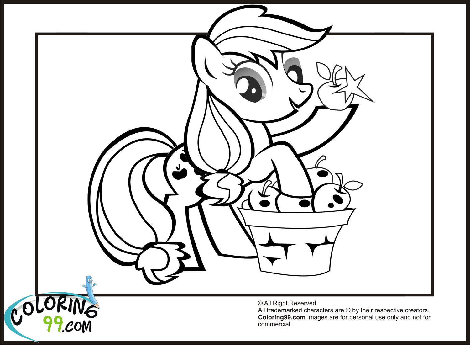 mlp coloring pages applejack - photo#33
