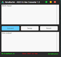 Almaftuchin - ASCII & Hex Converter Documentation