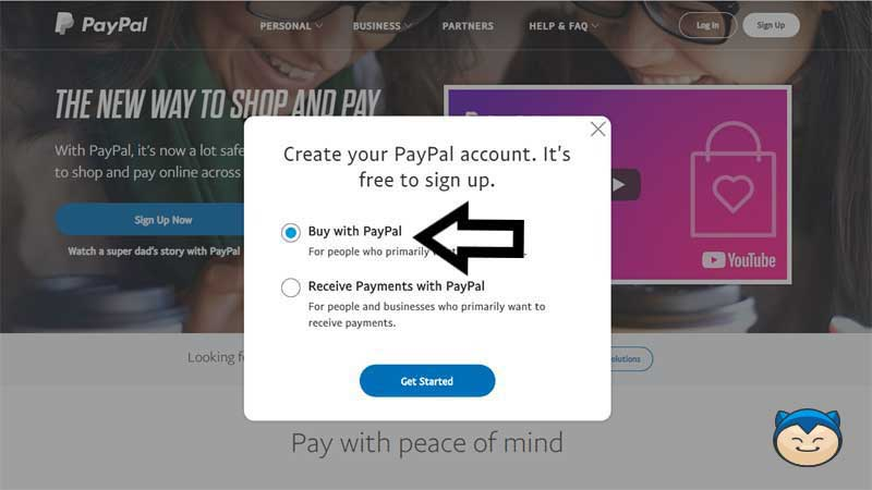 Cara Membuat Akun Paypal Step 3