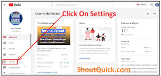 Click on setting