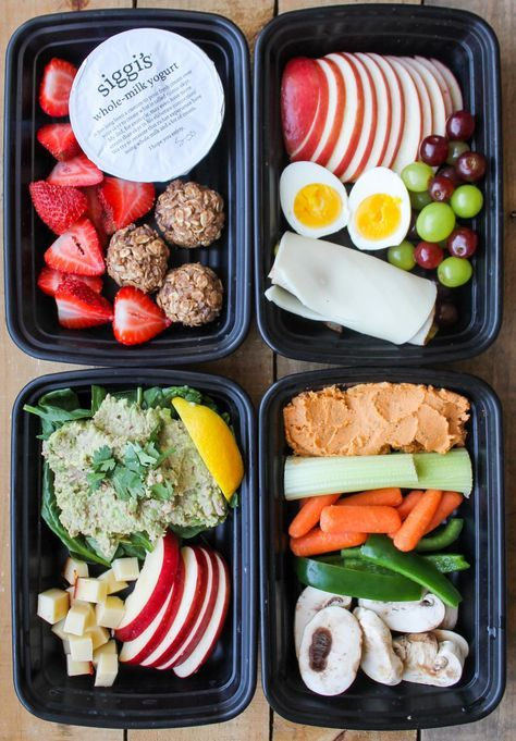 These 4 Healthy Snack Box Ideas are easy and healthy snack recipes to make ahead of time for easy grab and go snacks! Let's talk about healthy eating downfalls. For me, my biggest downfall when I'm…
