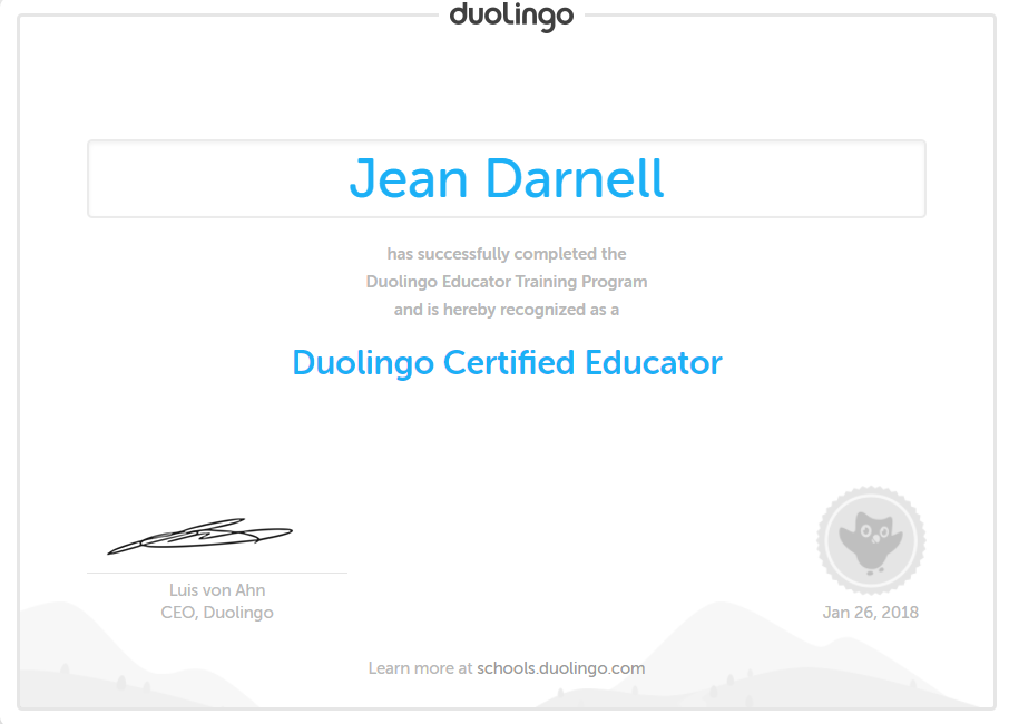 Duolingo Educator Certification