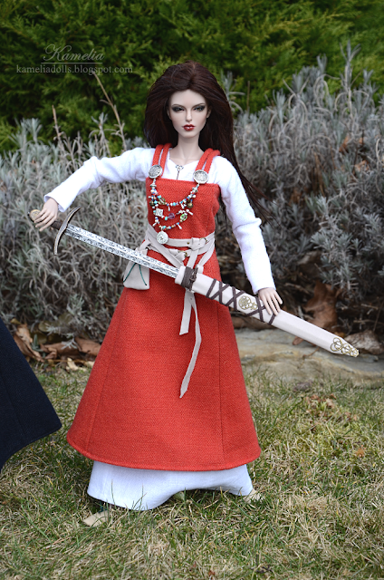 Viking outfit and sword for BJD doll