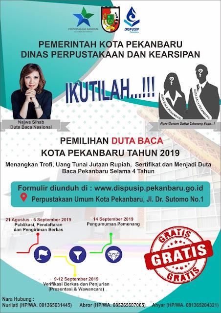 Pemilihan Duta Baca Kota Pekanbaru Tahun 2019
