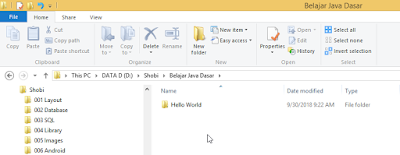 Membuat folder Project IntelliJ IDEA