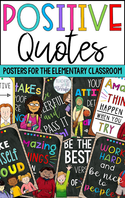 This versatile poster set with gorgeous colors and amazing students' clip art will decorate your classroom all year. Each poster features an encouraging and positive quote that will help motivate and affirm the students you teach.