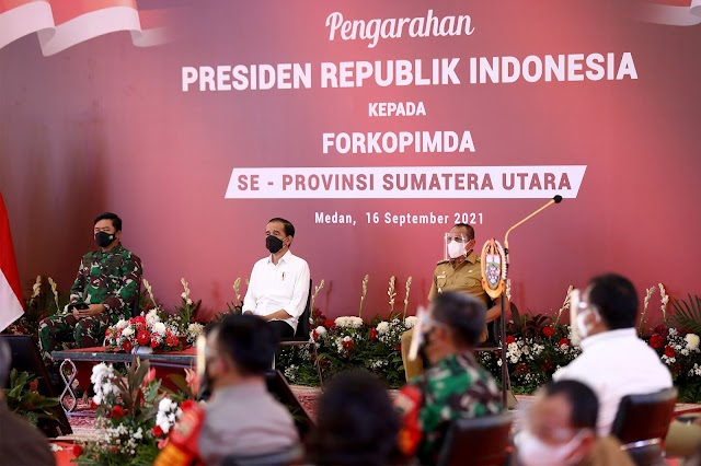 Edy Rahmayadi Laporkan Penurunan Kasus Covid-19 Sumut ke Presiden Jokowi