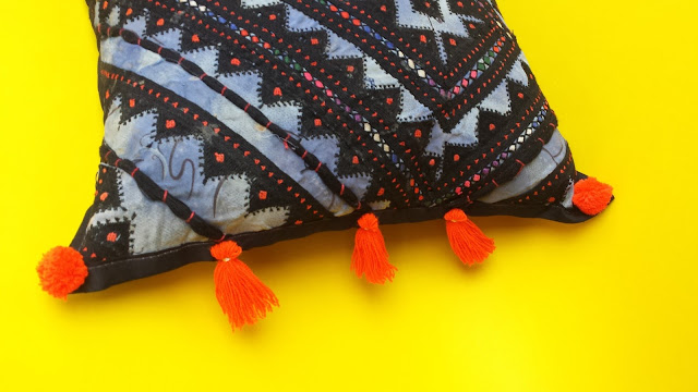 DIY Tassels Pillow