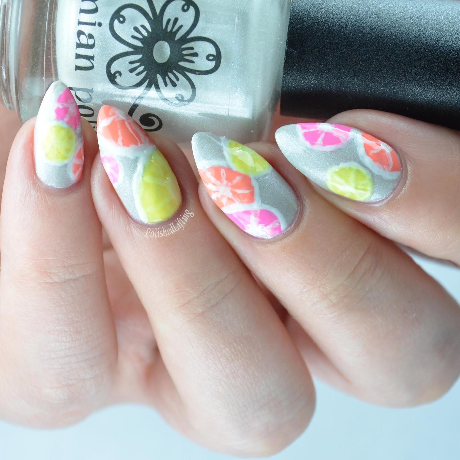 Polished lifting citrus slices featuring bohemian polish citrus nail art prinsesfo Gallery