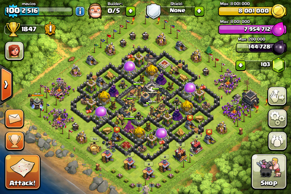 th 9 base calsh of clans